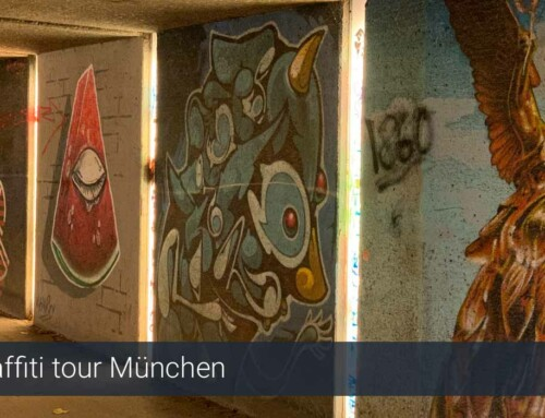 Graffiti routekaart München uit de PassePartout Beieren reisgids